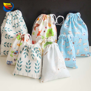Printed cotton fiber strand pocket travel receive bag Receive arrange luggage clothes bags cosmetic bag packing bags