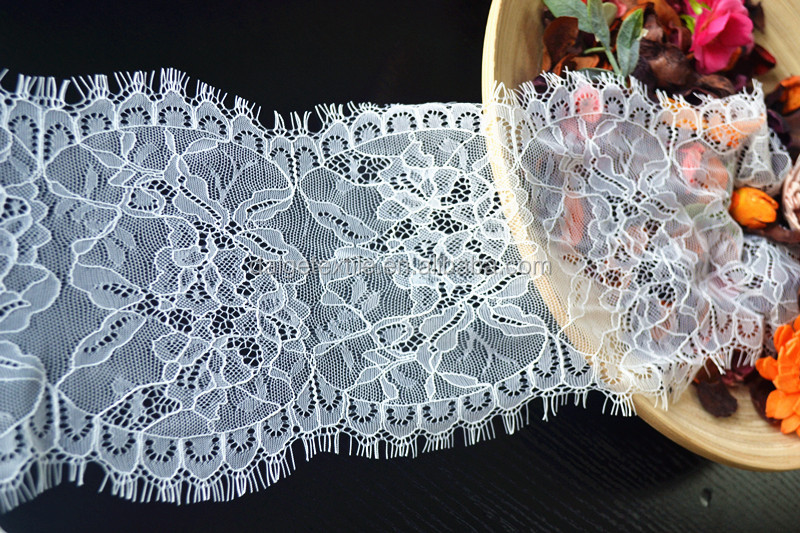 2017 new design stretch nylon spandex trim lace for wedding dress