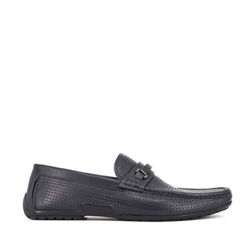 Breathable leather upper casual moccasin shoes