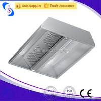 Commercial Chinese Kitchen Exhaust Range Hood Factory/Stainless Steel Kitchen Aire Range Hood Price for Restaurant Equipment