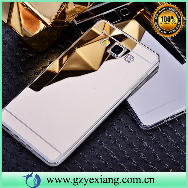 Luxury Mobile Phone TPU Case Mirror Back Cover For Samsung Galaxy A5