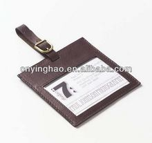 Design branded travel luggage belt with name tag