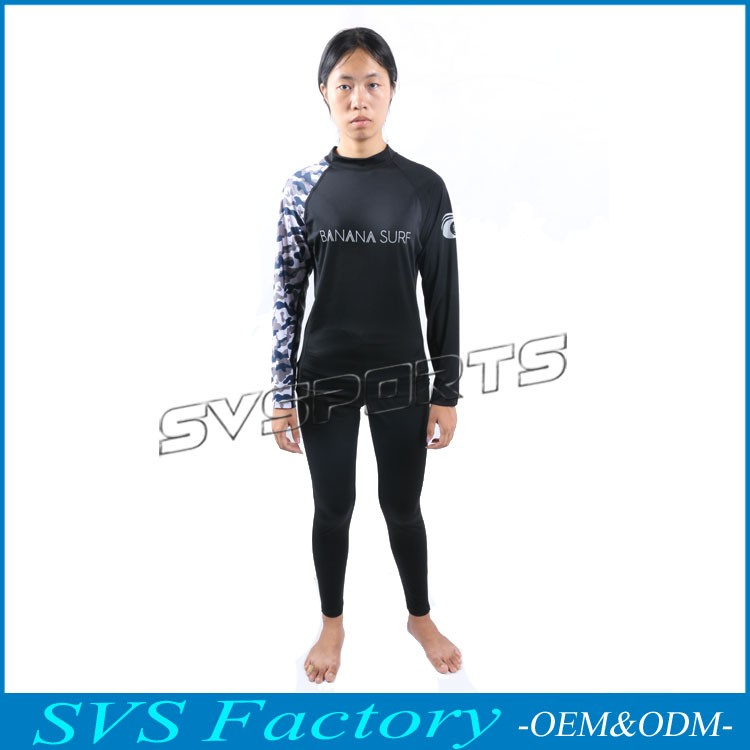 Lycra women's Rashguard Long Sleeve Women's UPF Protection,Surfing clothes