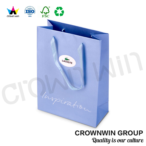 Top Quality fashion grocery square bottom shopping paper bag