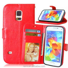 For samsung s5 mini S5 case, phone case for S5, Leather Cover Case For Samsung S5