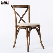 Manufacturer Event And Wedding Party Stacking Wood Cross Back Chair