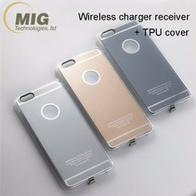 Qi wireless receiver wireless charging case adapter receiving housing in TPU case 2 in 1 for iPhone 7 7 plus 6S 6S plus 5