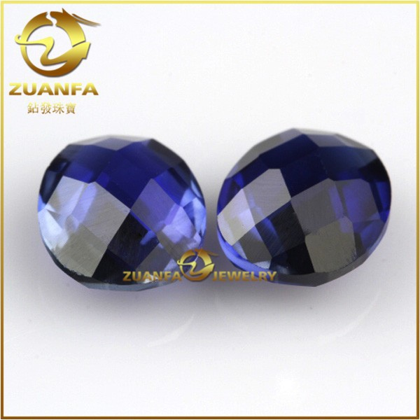 China wuzhou double checker cut tanzanite synthetic oval cut corundum price of raw gemstones