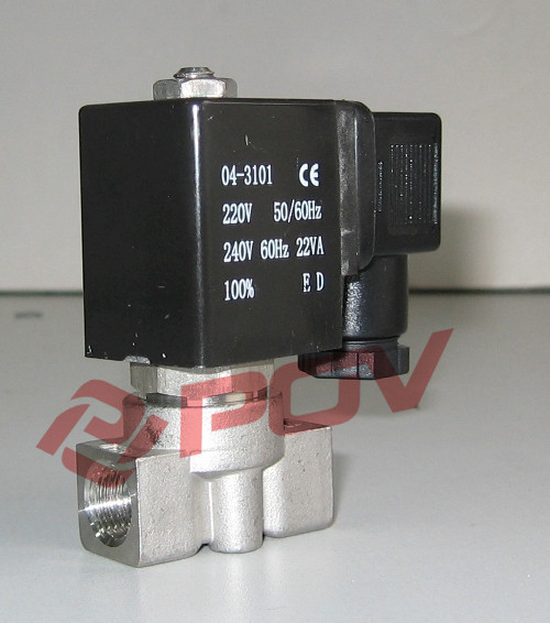 POG-1-1B 316 stainless steel high pressure gas solenoid valve 12v