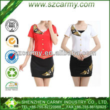 Hot Sell Air Hostess Suit Promotion Sales Worker Uniform 2014