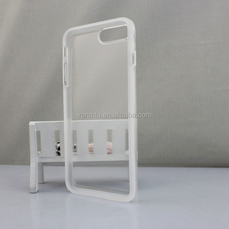wholesale blank with groove tpu case for iphone 7
