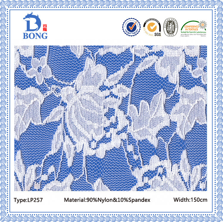 Indian white bridal dress lace fabrics manufacturer