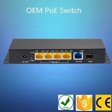 Industrial 10/100/1000mbps Sfp 4 port PoE switch