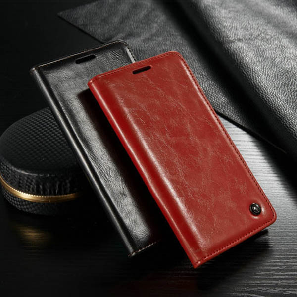 Luxury Book Wallet Case Cover Flip Card Holder Leather Case For LG G4
