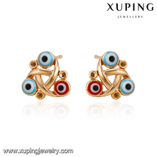 90236 indian Style creative design evil eyes shape decorate gold plated Earring Jewelry