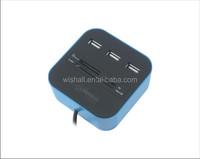 2014 best selling Combo- USB 2.0 Card reader+USB 2.0 3 port HUB