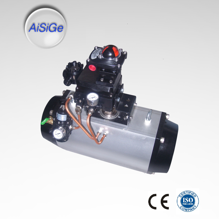 AiSiGe Pneumatic Actuator with Limit Switch, Solenoid Valve and Air filter regulator