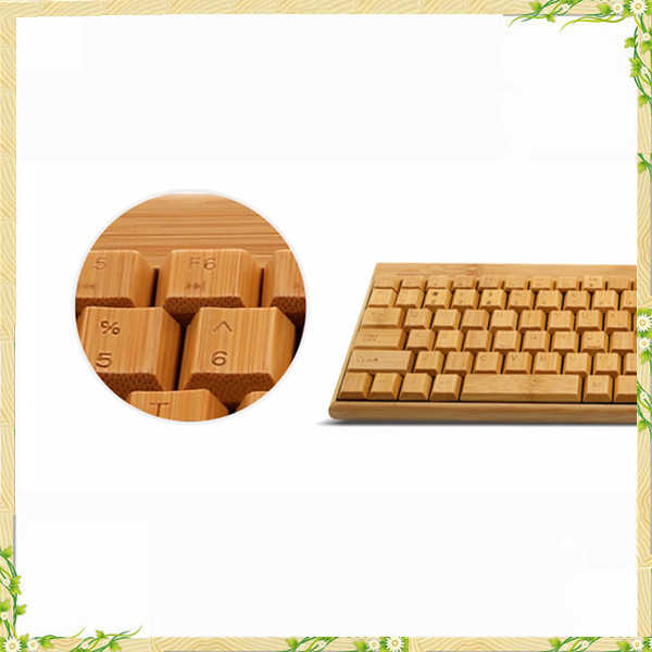 China electronics online low price wood keyboard and mouse