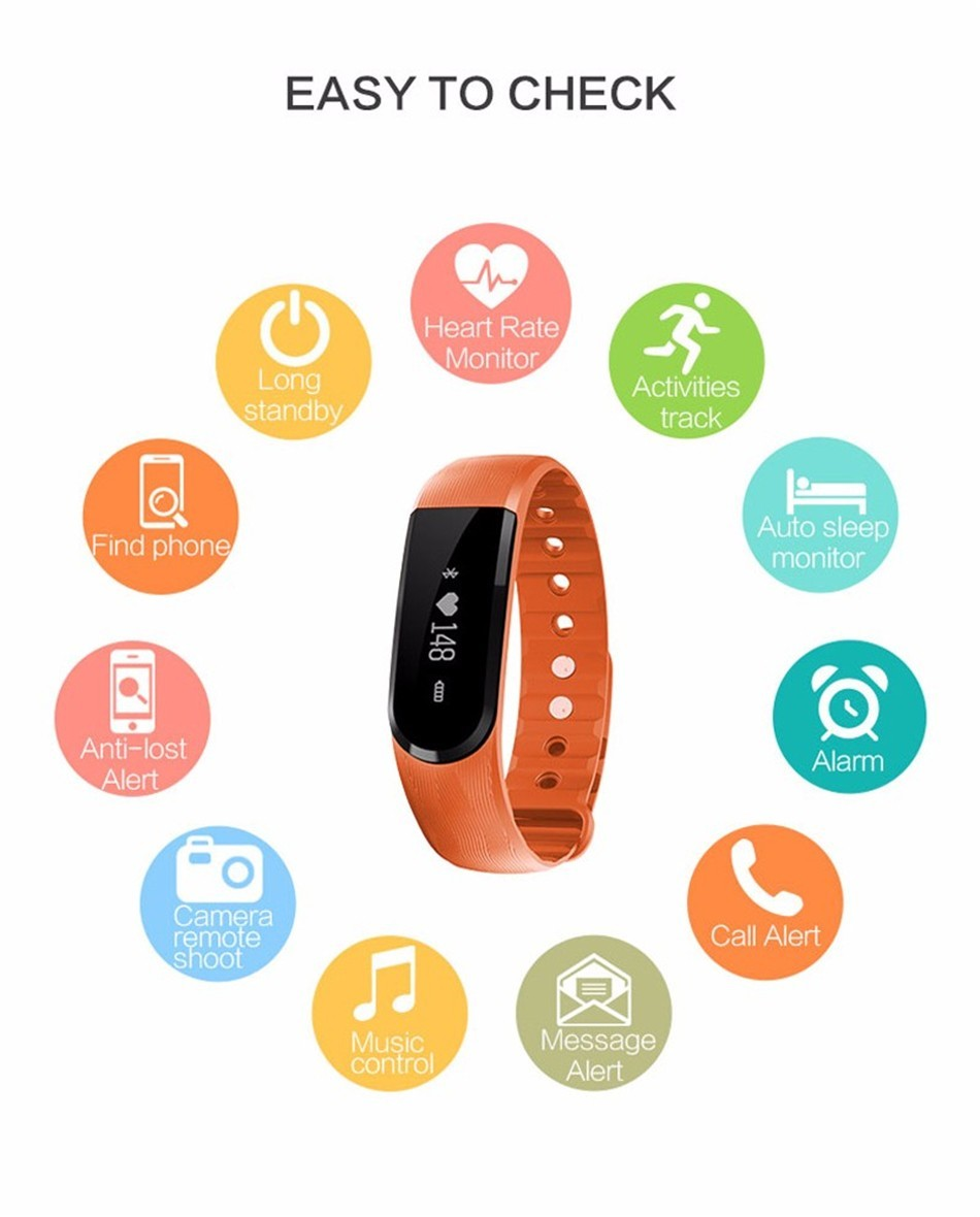 trending hot products full touch screen heart rate monitor smart bracelet