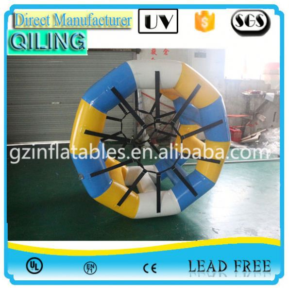 Guangzhou High quality entertainment toy water wheel inflatable for promotion
