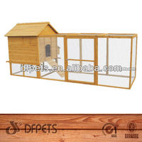 Large Wooden Duck Cage With Metal Trays DFC020