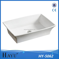 HY-5062 retangular bathroom color toilet sink