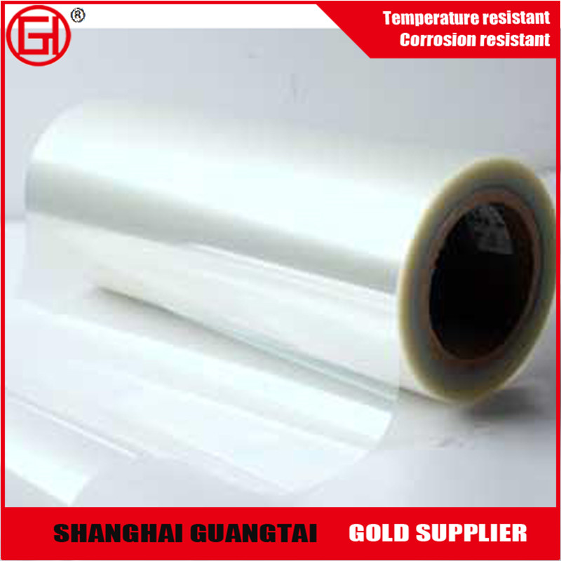pet film roll coated silicone, white pet film rolling