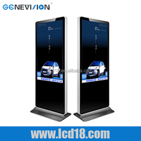 42 inch metal shell USB floor stand lcd wifi ad player with holder