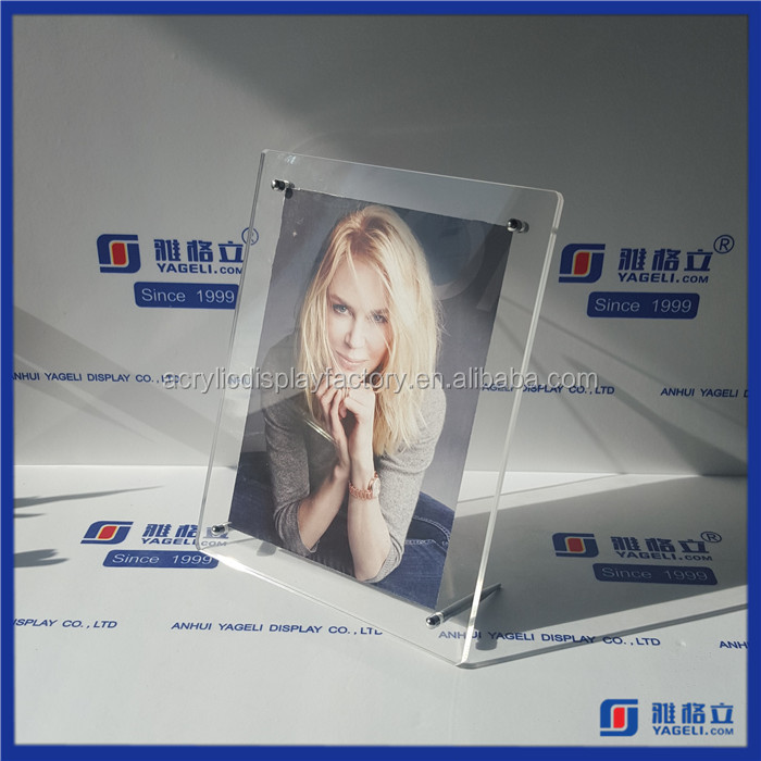 Chinese factory wholesale 4 x 6 picture frames / acrylic sexy girl photo frame