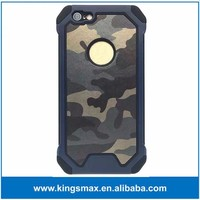 Army Blue Cell Phone Case Hybrid TPU + PC Shockproof Back Cover for iPhone 6s