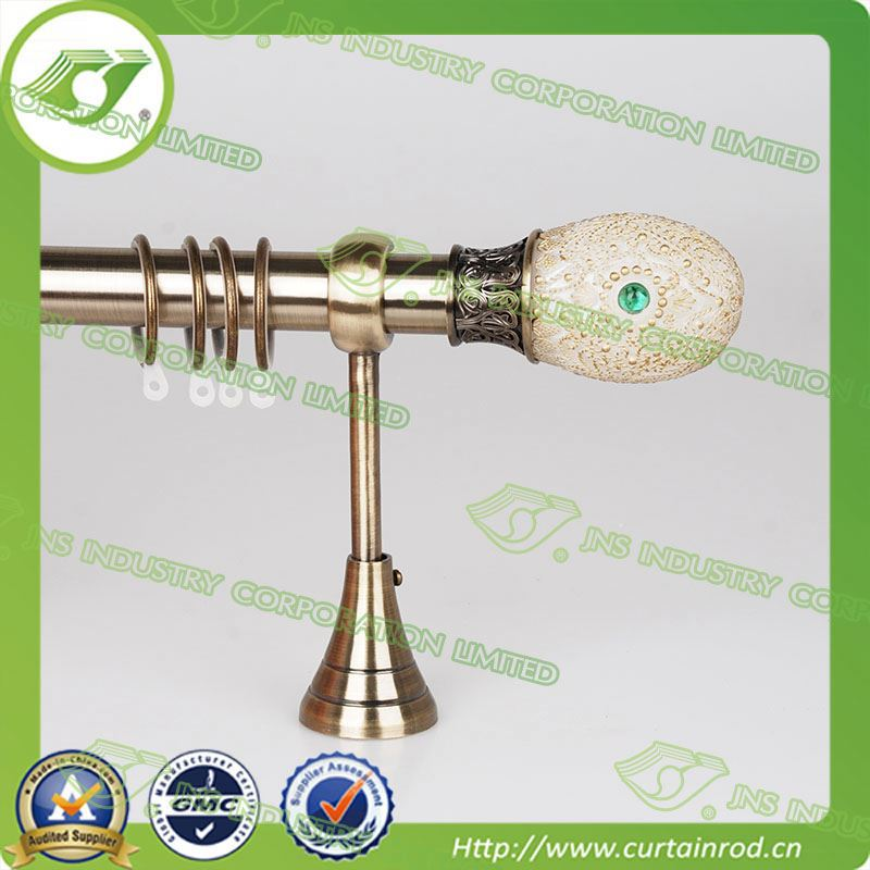 [Coral Series]aluminum window curtain rods / white wooden curtain pole / tension rod curtain