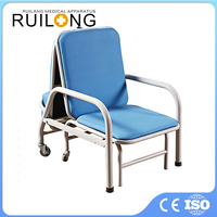 Hospital Folding Cushion Manual Hospital Recliner Chair Bed