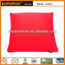 Branded soft pillow with microbeads filling