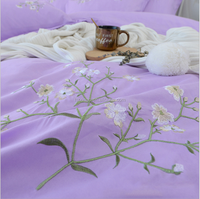 Cheap Home Embroidery Bedding Set Soft