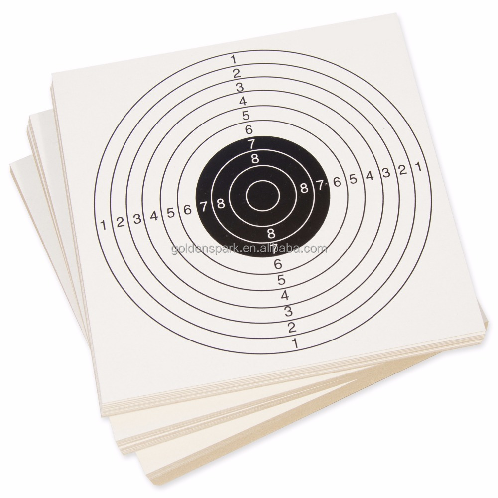 100PC X 14CM Top Quality Air Rifle/Airsoft/Pistol Shooting Practice Paper Card Targets