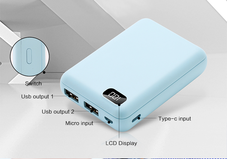 Power Station 20000Mah Card Power Bank Charger Case all phone 5 Battery