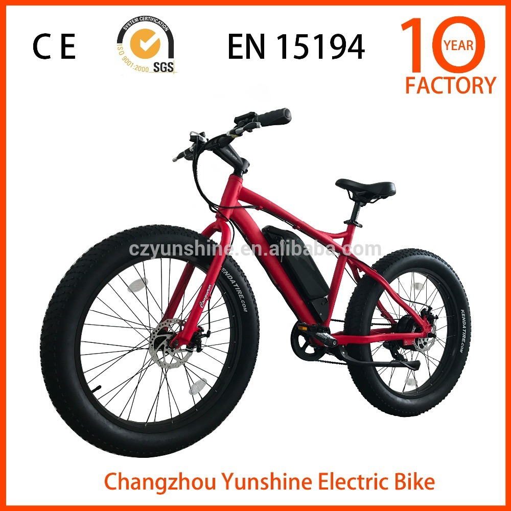 Changzhou Yunshine 26 inch fat boy ebike, electric mono bike for sale with samsung battery
