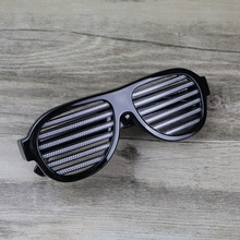 led Shutter Shades flashing eye glasses without small cell EL Wire Glasses for Concert