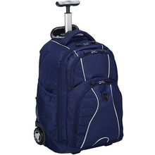 Custom 15 Inches wheeled laptop backpack bag rolling backpack with wheels