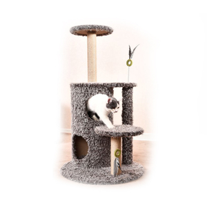 Petstar factory supply hot selling and high quality cat scratching tree with plush fur
