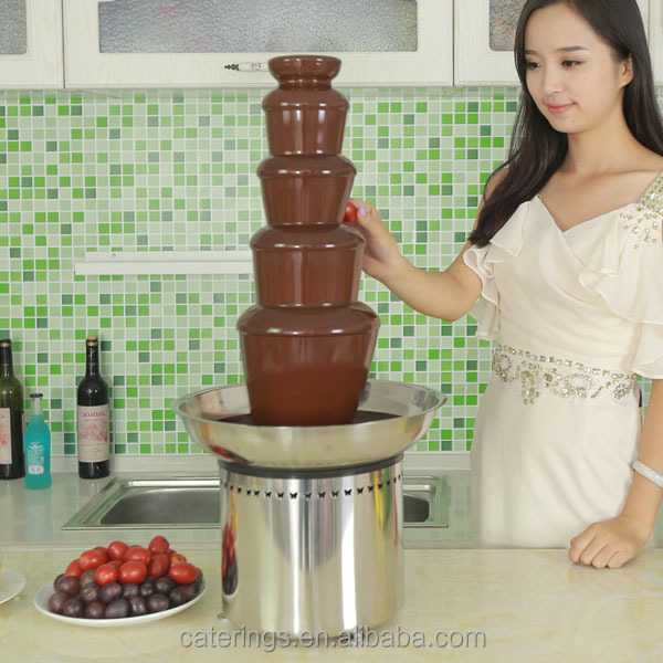 Food grade Stainless Steel made 5 tiers Chocolate Fountain