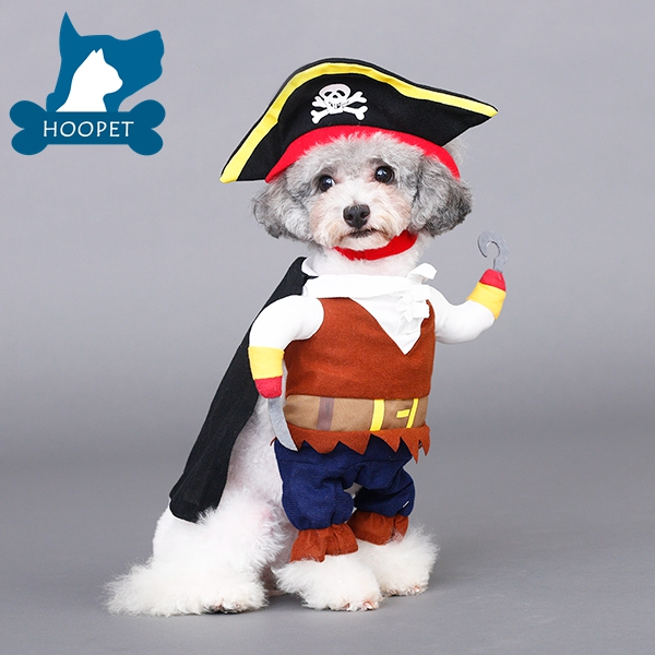 New Pet Turned Installed Halloween Pet Clothes Police Cowboy Pirates Very Cute Handsome Dog Clothes