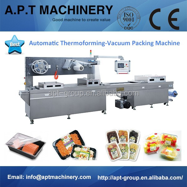 Automatic Food/Meats/Seafood Modified Atmosphere Thermoforming Vacuum Packaging Machine