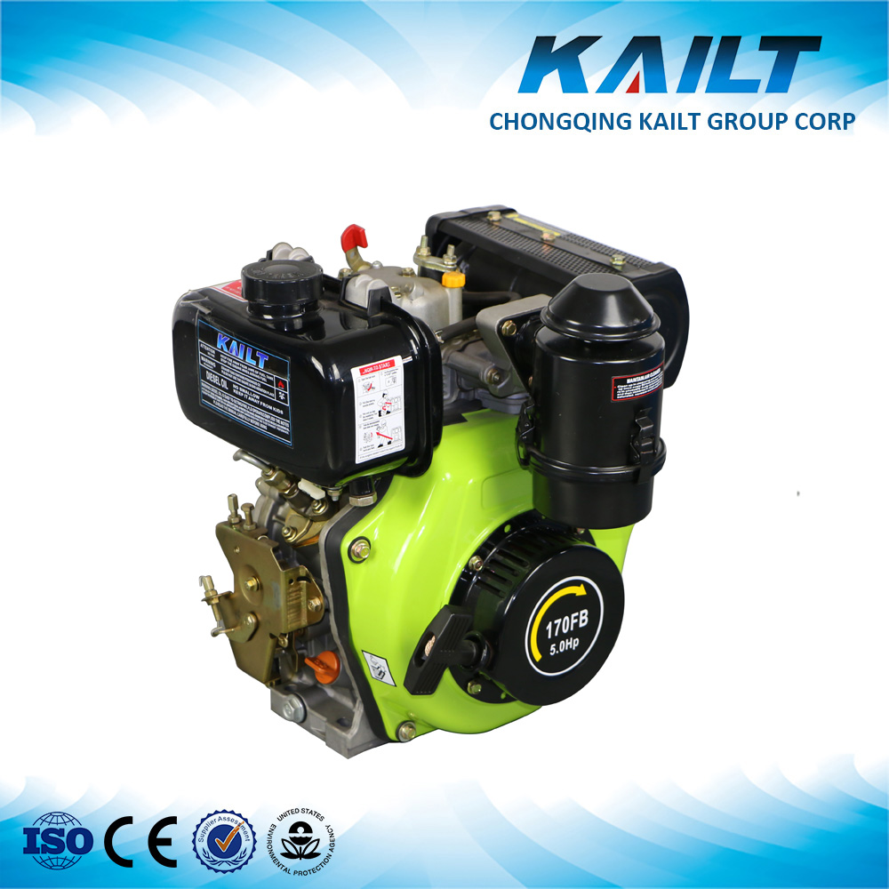 170FB Diesel Engine Air Cooled Single Cylinder 200cc 5HP Diesel Engine