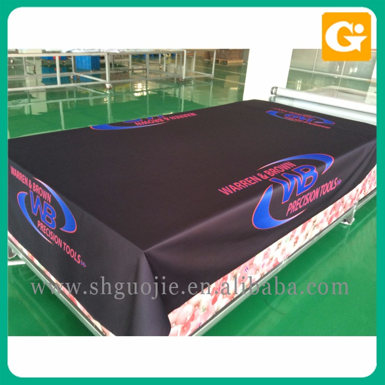 Custom beautiful picture decoration table cloth