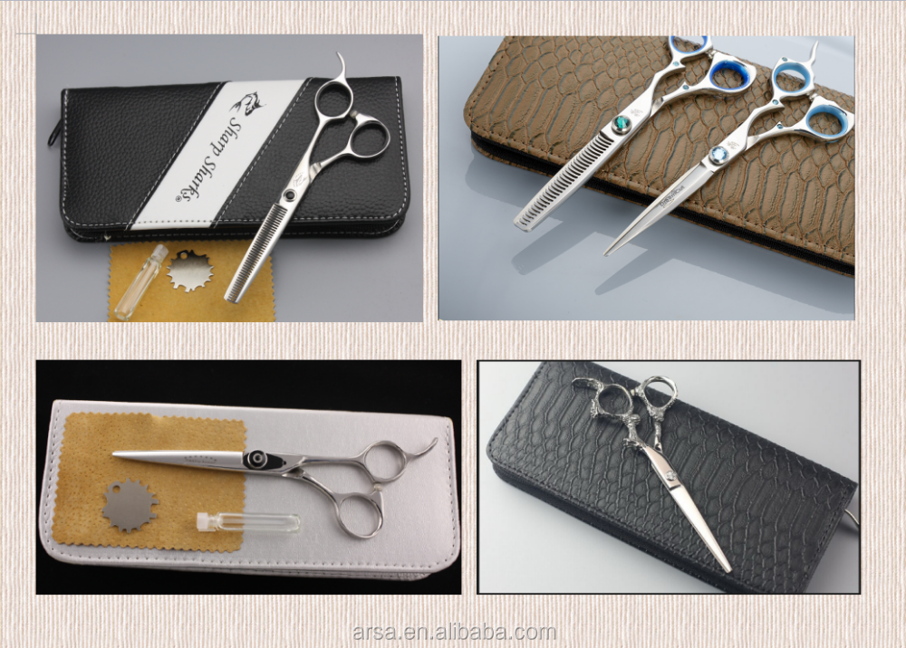 Professional hair cutting scissors made of SUS440C Japanese steel hot selling baber scissors