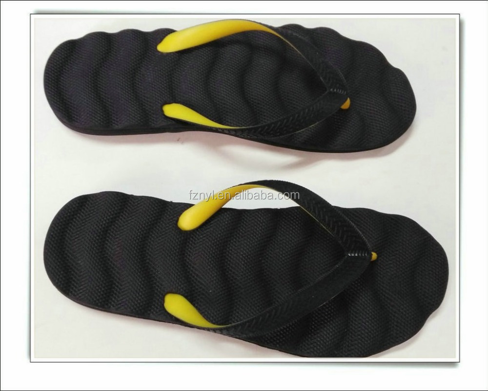 Lady man beach massage double color strap slipper