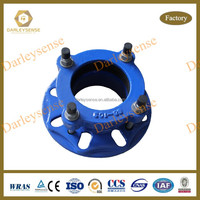 Cast Iron Pipe Adapter with Blue Coating Ductile Iron Material for Connecting Ductile Iron Pipes