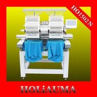 NEW Two Heads Cap Shirt computer embroidery machine price For Home /Industry /Commerce