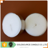 wholesale china factory white paraffin wax tea light warmer candle